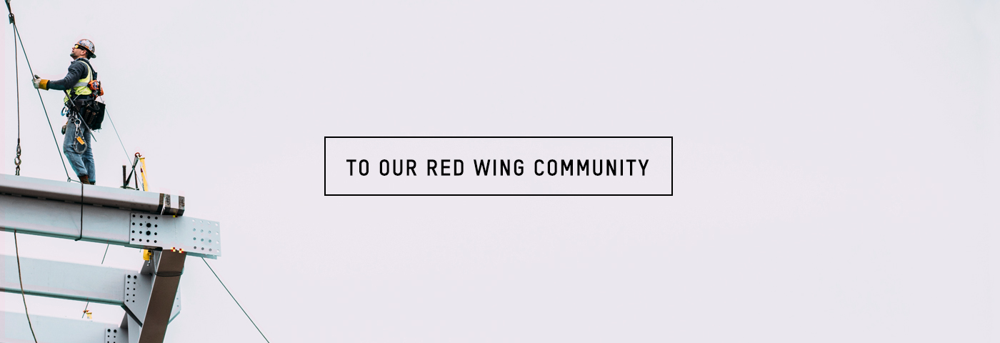 To our Red Wing Community